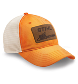 Washed Orange Twill and Mesh Cap