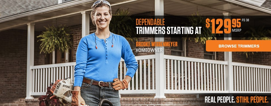 STIHL Trimmers starting at $129.95!